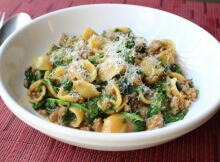 Orecchietta Pasta With Sausage And Arugala Is A One Pot Wonder